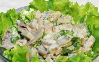Салат з печериць — приготування і покрокові рецепти з фото